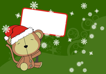 monkey baby cartoon background xmas