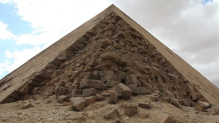 Pyramid in Giza Egypt with Loose Stones - Time Lapse