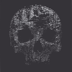 vector halftone background with a skull