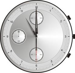 12 Uhr exakt nachts Silberuhr morgenstunde