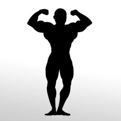 Bodybuiling Silhouette