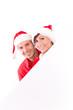 paar mit textfreiraum weihnachten