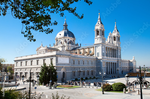 Beautiful  architecture- Cathedral Almudena,  Spain