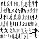 people recreation silhouettes vector