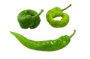 Green peper in smile