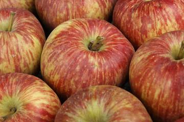 Red apples closeup