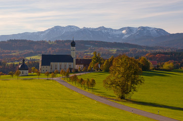 Wilparting Wallfahrtskirche Oberbayern Gemeinde Irschenberg