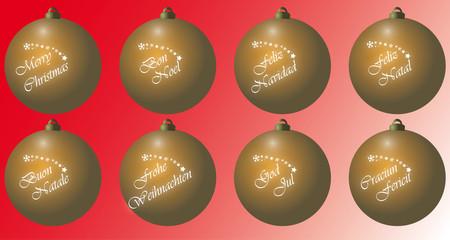 palla natalizia oro