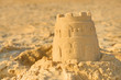 Detailed photograph of a sandcastle - 27218514