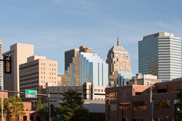 Office buildings of Oklahoma city downtown, USA