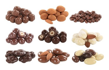 Chocolate covered nuts and fruit