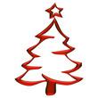 Sapin de Noël rouge électrique