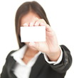 business person showing business card