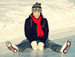 Ice skating fun outdoors