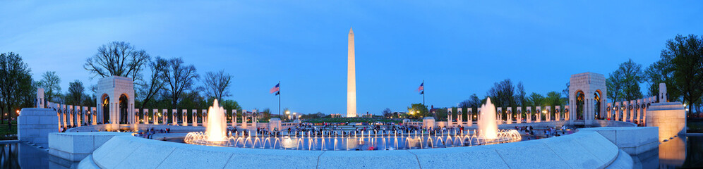 Washington monument panorama, Washington DC.