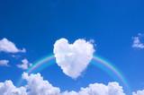 Fototapety ハートの雲