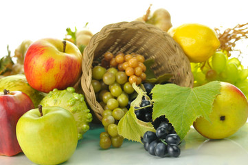 autumn composition with fruits