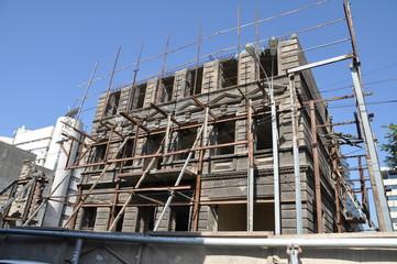immeuble en construction a erevan en armenie