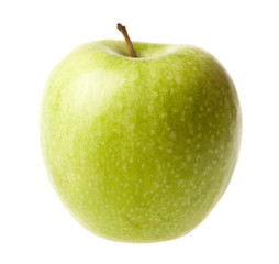 Green ripe apple isolated