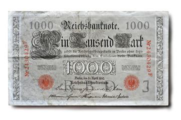 Alte Banknote 1000 Mark Reichsbank 1910