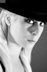 Retro blond glamour model