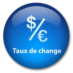 Bouton Web TAUX DE CHANGE (devises banque bureau finance argent)