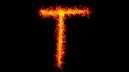 Fire letter T graffiti HD
