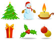 Set of vector christmas images.