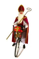 Dutch Sinterklaas on the bike