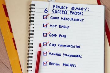 Success factors abstract