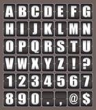 Alphabet ticker board poster