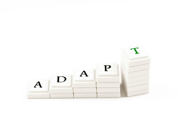 ADAPT - visual metaphor for success by adapting