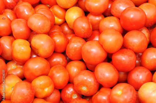 Background Of Red Tomatoes On Display