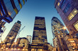 canvas print picture - Skyscrapers in City of London,