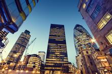 """Постер, картина, фотообои """"Skyscrapers in City of London,"""""""