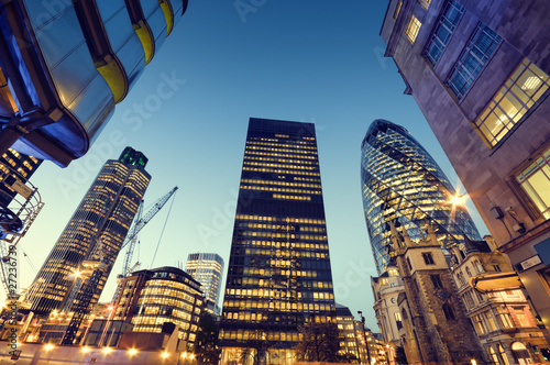 Foto op Canvas Londen Skyscrapers in City of London,