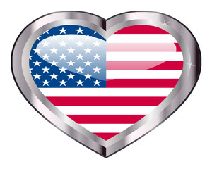 Heart Button -USA