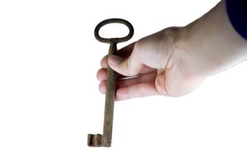 mano con chiave antica