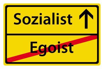 Sozialist statt Egoist