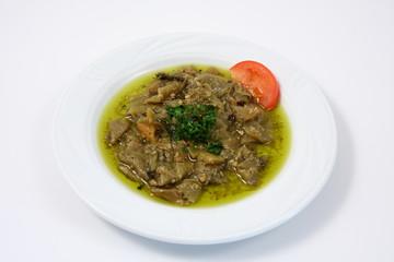 piatto con peperoni sott'olio