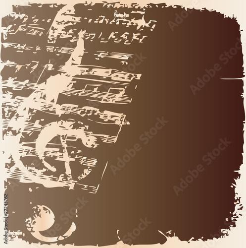 Notenschlüssel und Notenblatt