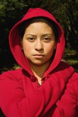 Woman In A Sweatshirt