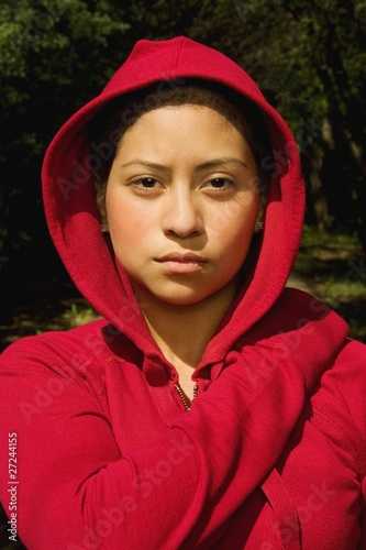 Woman In A Sweatshirt
