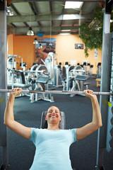 Frau macht Workout