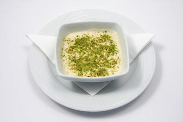 zuppa con pistacchio