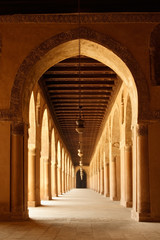 Arches of Mosque of Ahmad Ibn Tulun in old Cairo, Egypt