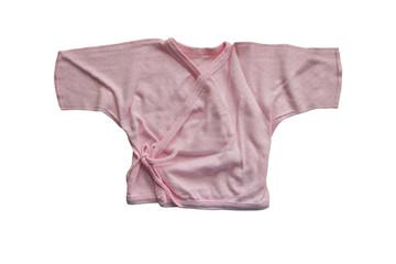 Pink baby shirt, kimono-style