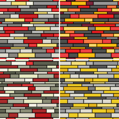 Abstract seamless walls patterns