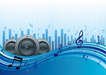 vector illustration of music abstract background