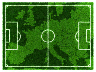 Football map. Central Europe